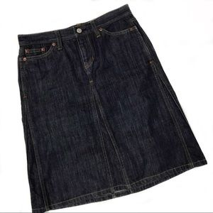 Gap A-line Jean Skirt - long